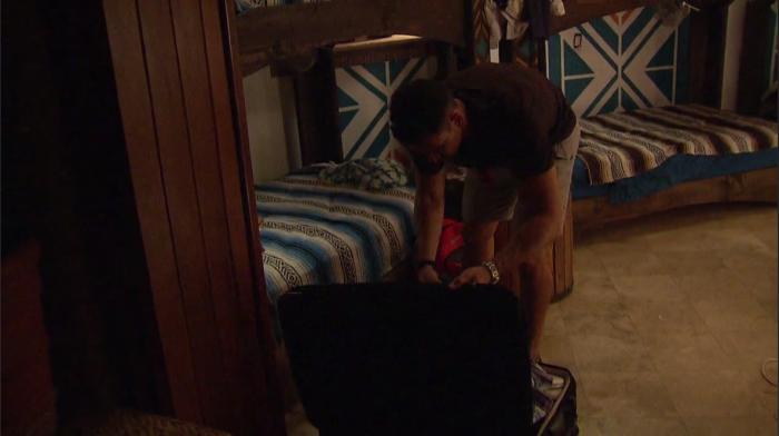 Josh packing